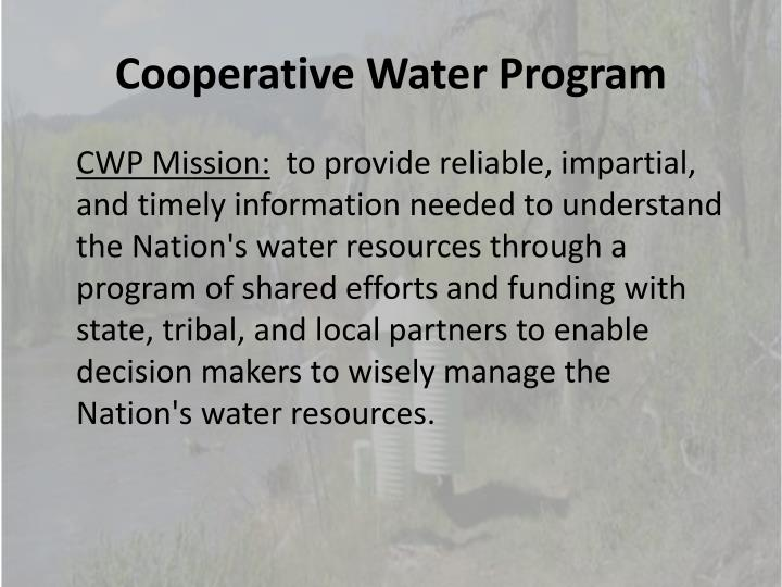 Cooperative Water Program