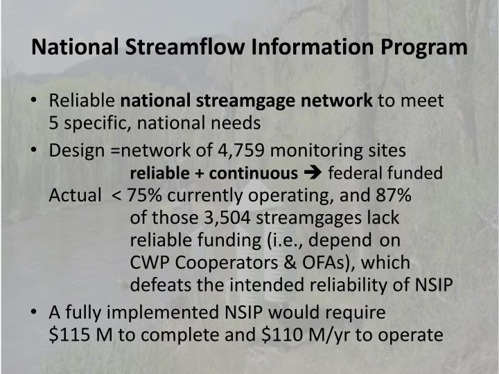 National Streamflow Information Program