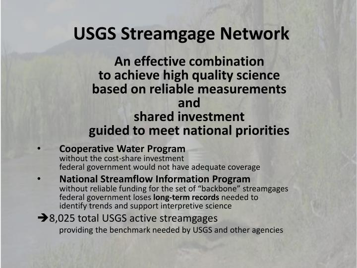 USGS Streamgage Network