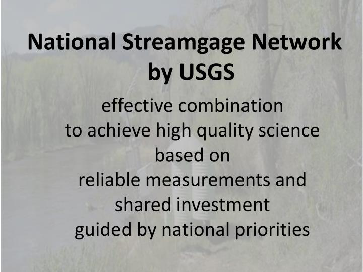 National Streamgage Network