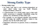 strong entity type