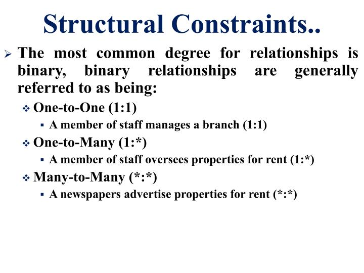 Structural Constraints..