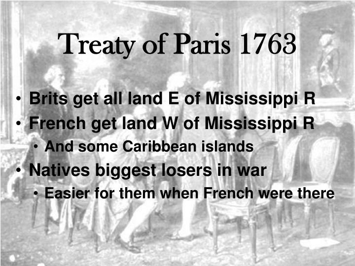 treaty of paris 1763 essay
