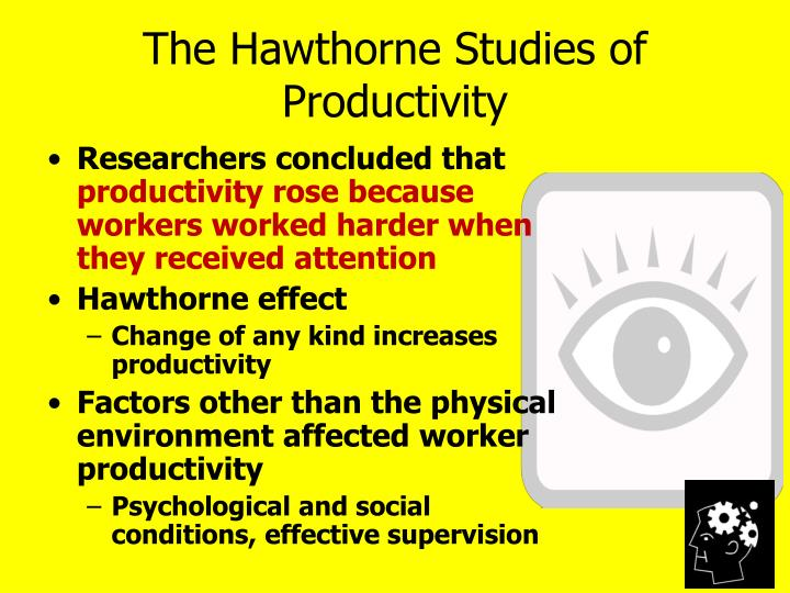 The Hawthorne Studies of Productivity