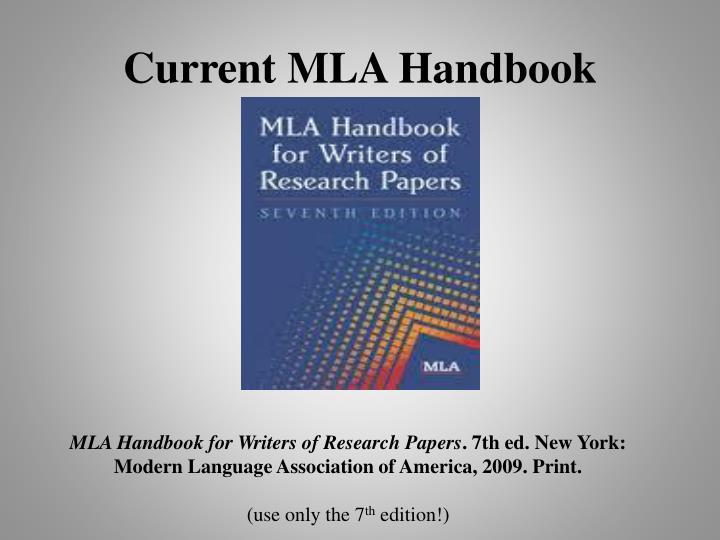 Current MLA Handbook