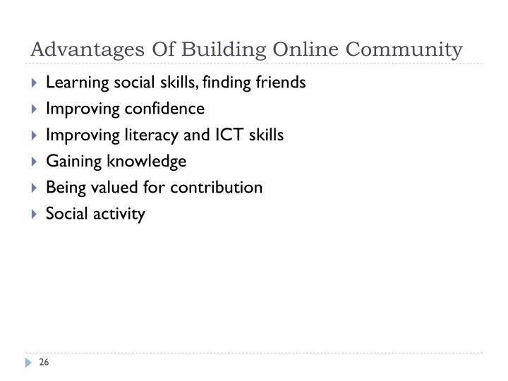 Advantages Of Building Online Community