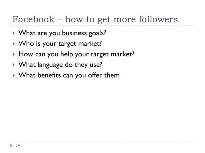 Facebook – how to get more followers