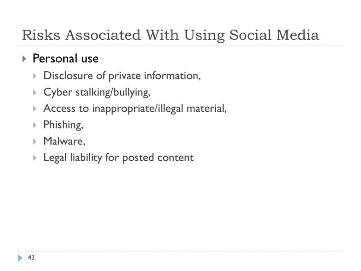 Risks Associated With Using Social Media
