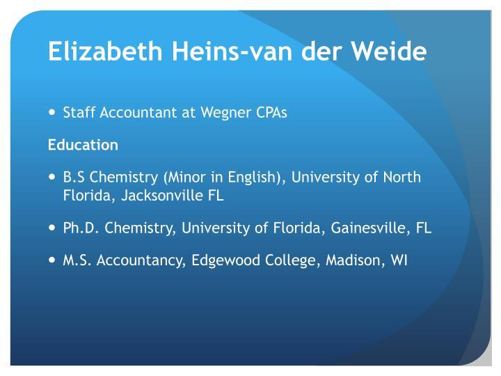 Elizabeth Heins-van der Weide
