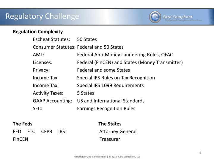 PPT - June 13, 2012 Compliance Overview: Gift Card ...