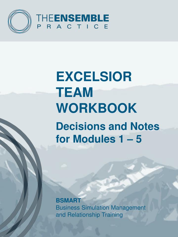 Excelsior team workbook