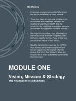 vision mission strategy the foundation of a business