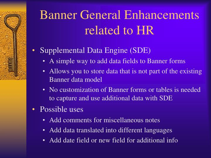 Banner General Enhancements related to HR