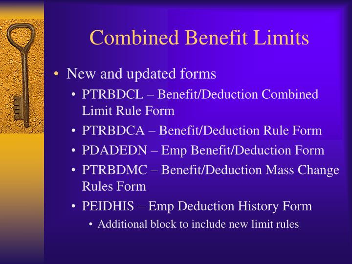 Combined Benefit Limits