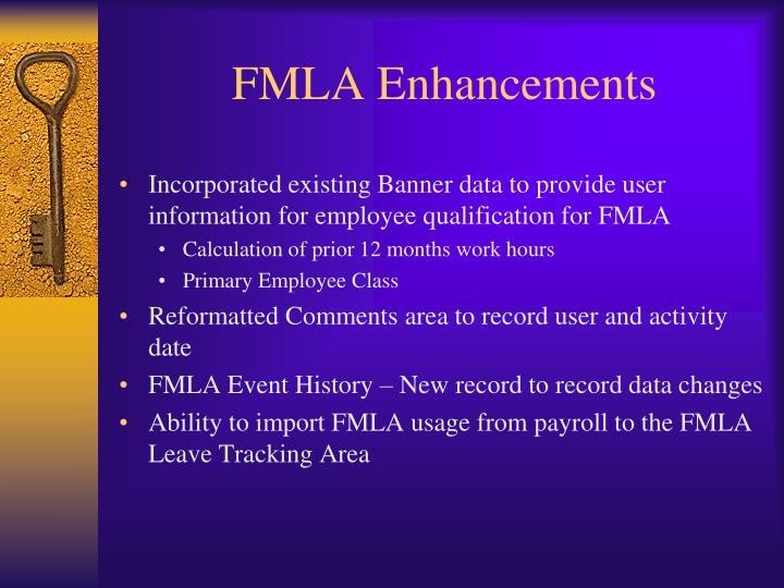 FMLA Enhancements