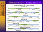 hr banner upgrade testing timeline1