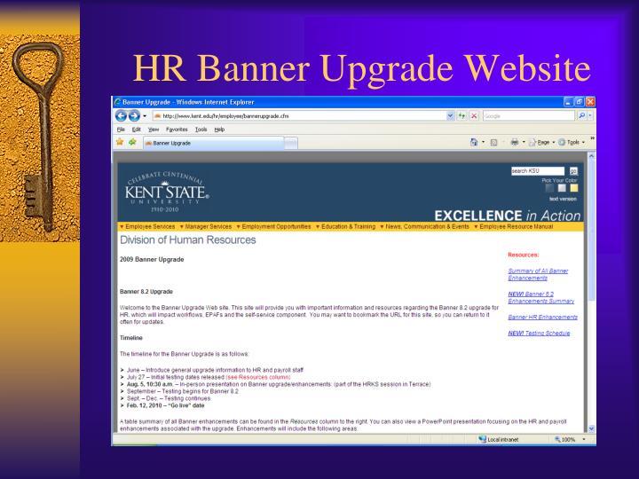 HR Banner Upgrade Website