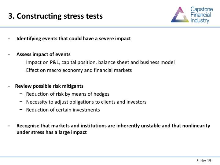 3. Constructing stress tests