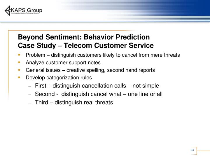 Beyond Sentiment: Behavior Prediction
