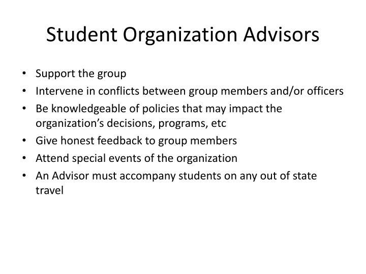 Student Organization Advisors