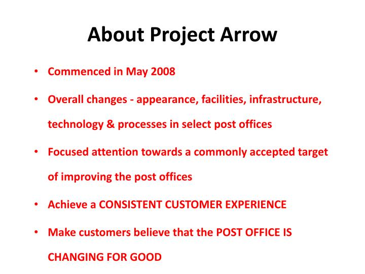 About Project Arrow