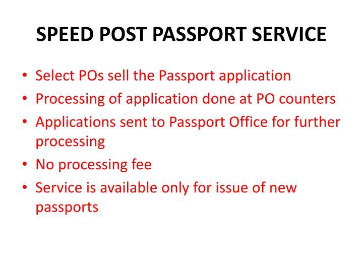 SPEED POST PASSPORT SERVICE