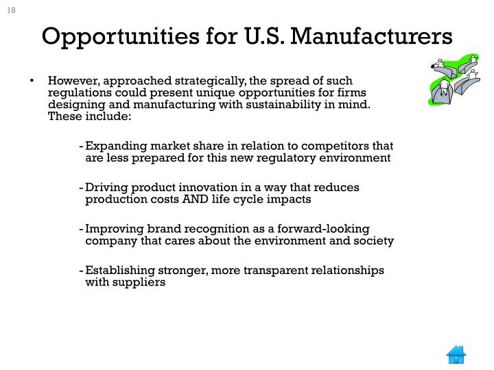 Opportunities for U.S. Manufacturers