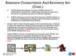 resource conservation and recovery act cont