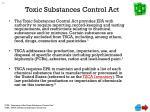 toxic substances control act
