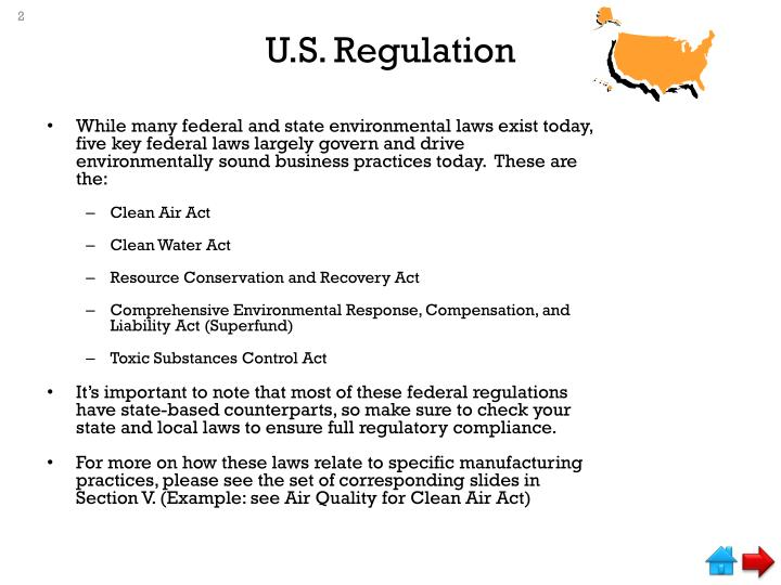 U s regulation