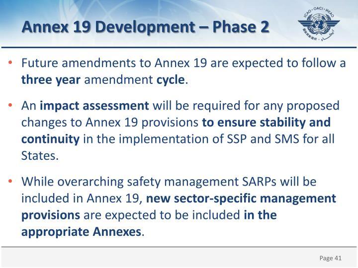 Annex 19