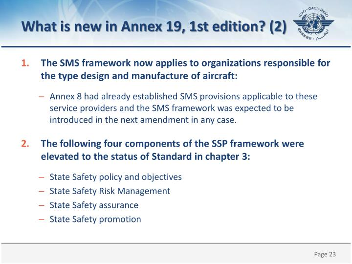 What is new in Annex 19, 1st edition? (2)