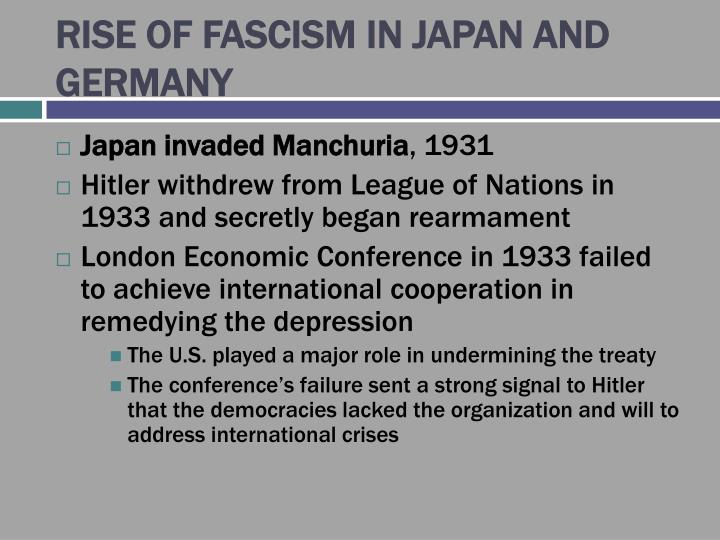RISE OF FASCISM IN JAPAN AND GERMANY