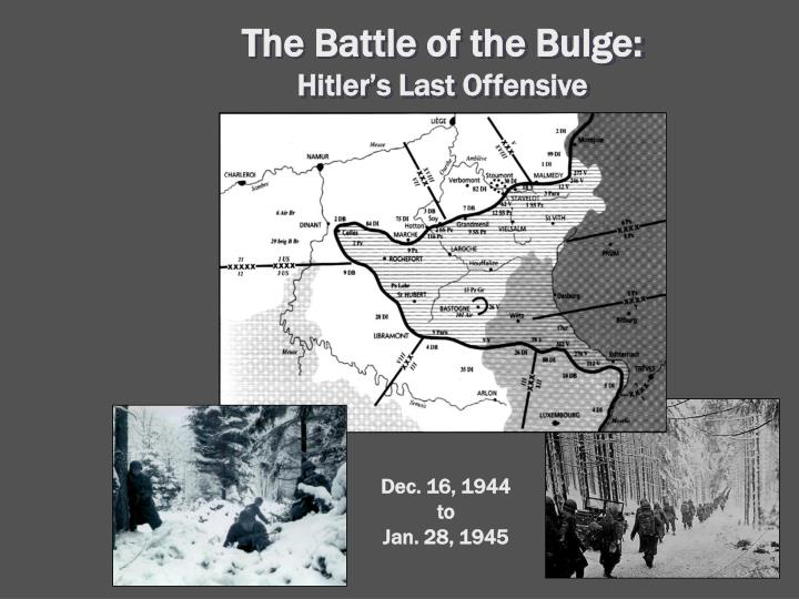 The Battle of the Bulge: