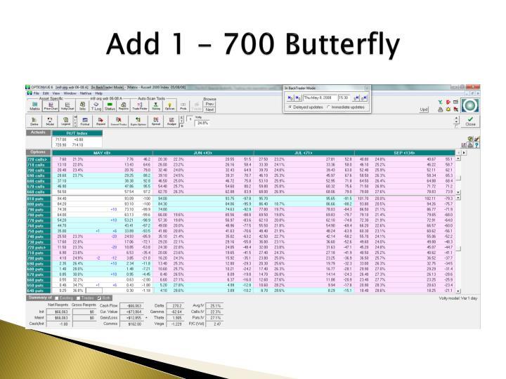 Add 1 - 700 Butterfly