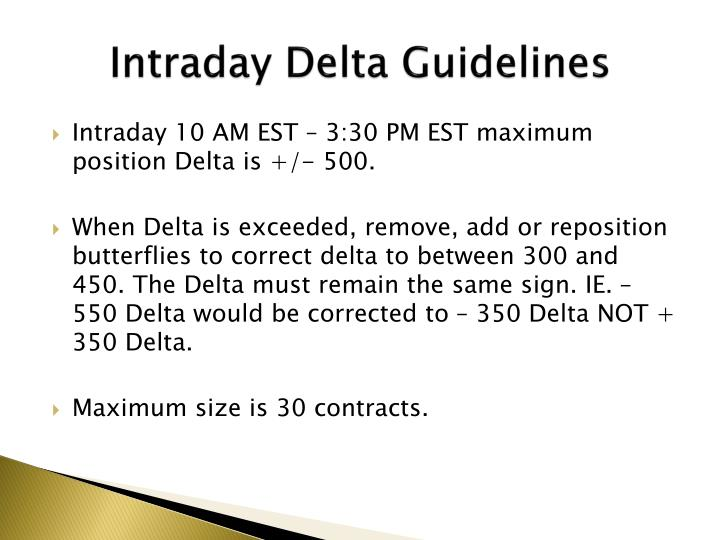 Intraday Delta Guidelines