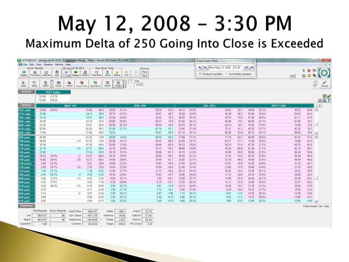 May 12, 2008 – 3:30 PM