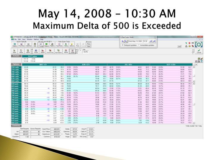 May 14, 2008 – 10:30 AM