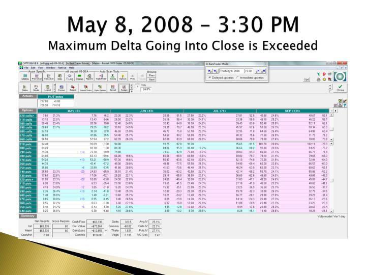May 8, 2008 – 3:30 PM
