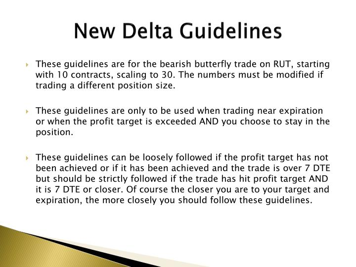 New Delta Guidelines