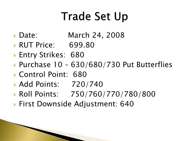 Trade Set Up