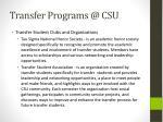transfer programs @ csu3