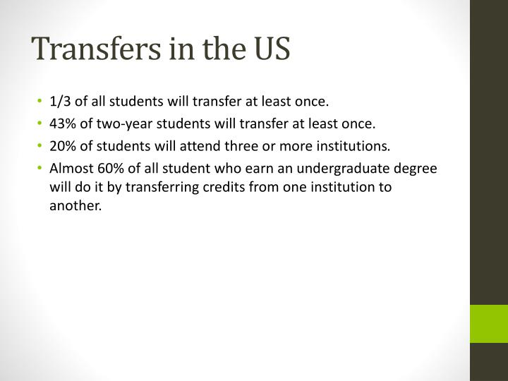 Transfers in the US