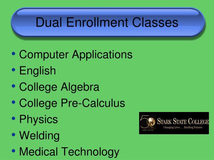Dual Enrollment Classes