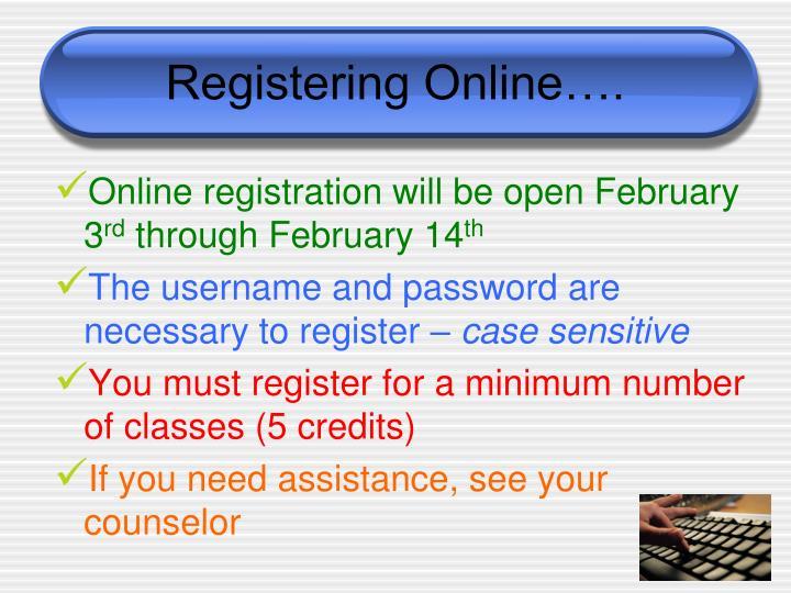 Registering Online….