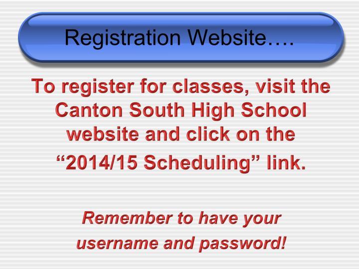 Registration Website….