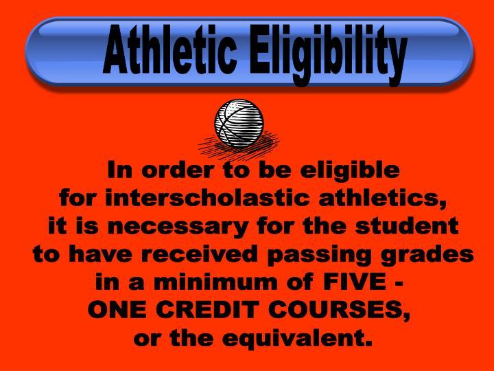 Athletic Eligibility