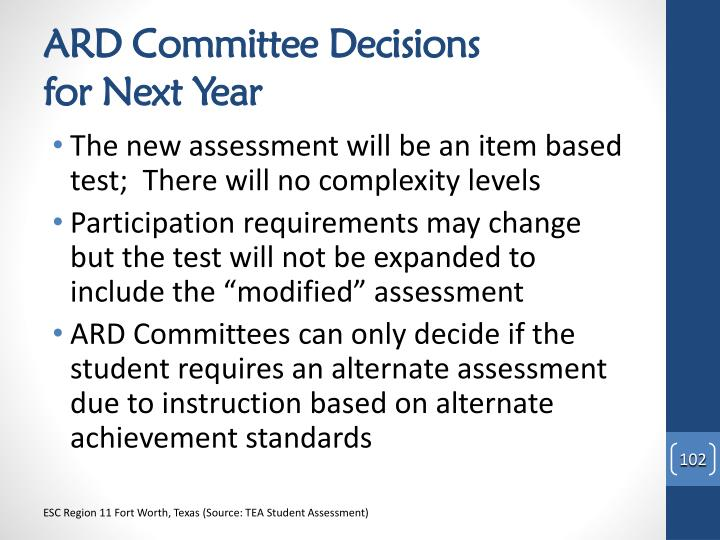 ARD Committee Decisions