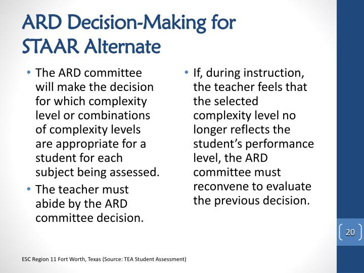 ARD Decision-Making for