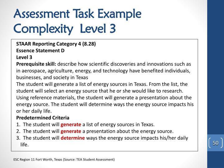 Assessment Task Example